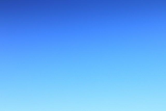晴れ空 雲なし