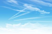 青空 飛行機雲 スカッと